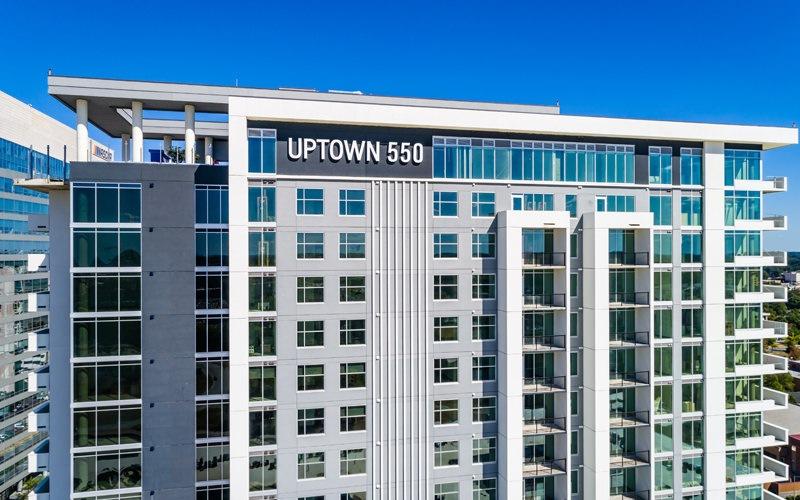 exterior shot of uptown 550